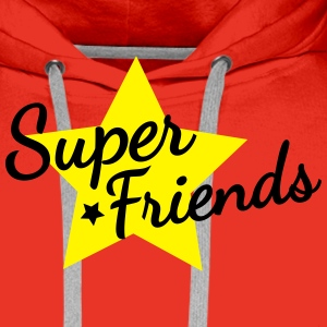 super friends super venner Skjorter - Premium hettegenser for menn