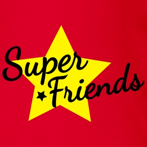 super friends amis super Tee shirts - Body bébé bio manches courtes