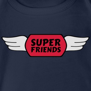 super friends Shirts - Organic Short-sleeved Baby Bodysuit