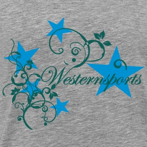 Westensports with Tribal and stars Long Sleeve Shirts - Men's Premium T-Shirt