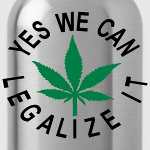 yes we can legalise it cannabis blatt - Trinkflasche