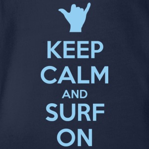 Keep Calm and Surf on T-shirts - Ekologisk kortärmad babybody