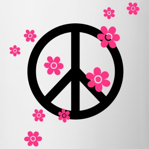 Peace Flowers Love Freedom Symbol Summer Hippie T-Shirts - Mug