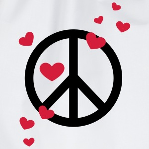 peace vredes symbool hart liefde zomer hippie  T-shirts - Gymtas