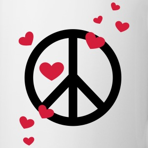 Peace Heart Love Freedom Symbol Summer Hippie T-Shirts - Mug