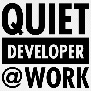 Quiet, Developer At Work T-shirts - Baseballkasket
