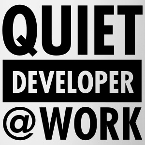 Quiet, Developer At Work T-shirts - Kop/krus