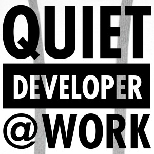 Quiet, Developer At Work T-shirts - Herre Premium hættetrøje