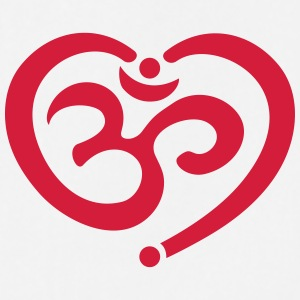 Yoga Heart OM Mantra Symbol Love Spirituality Aum T-Shirts - Cooking Apron
