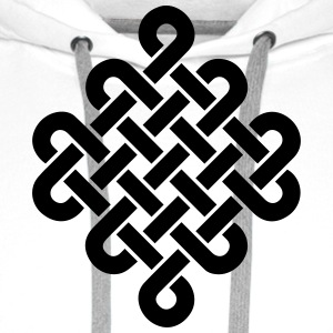 Infinity Buddhism Tibetan endless knot Celtic T-Shirts - Men's Premium Hoodie