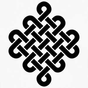Infinity Buddhism Tibetan endless knot Celtic T-Shirts - Men's Premium Longsleeve Shirt