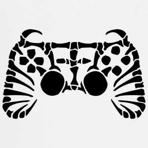 Play Station Controller Fossil luuranko T-paidat - Esiliina