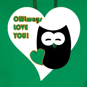 owlways love you T-shirts - Herre Premium hættetrøje