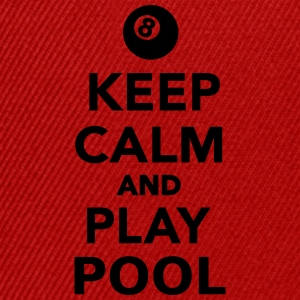 Keep calm and play pool T-Shirts - Snapback Cap