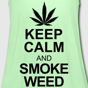 keep calm and smoke weed T-Shirts - Women's Tank Top by Bella