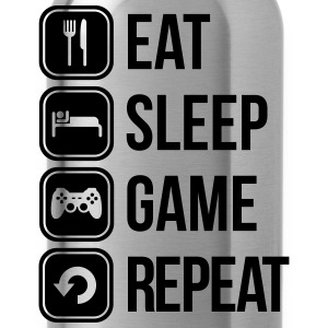 eat sleep game repeat T-Shirts - Water Bottle