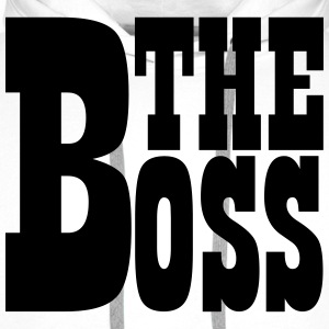 The Boss White - Men's Premium Hoodie