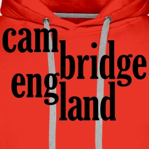 cambridge england typo logo T-Shirts - Men's Premium Hoodie