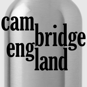 cambridge england typo logo T-Shirts - Water Bottle