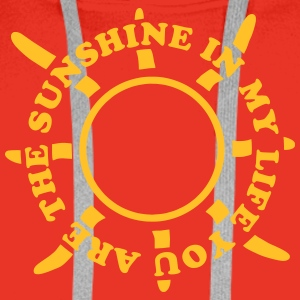 Sunshine in my life Tee shirts - Sweat-shirt à capuche Premium pour hommes