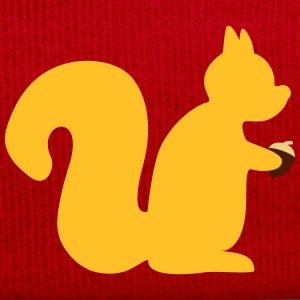 squirrel with a nut eekhoorn met moer Shirts - Wintermuts