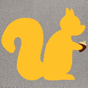 squirrel with a nut Bags & backpacks - Snapback Cap