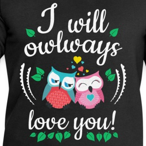 i will owlways love you owls ik zal owlways liefde u uilen T-shirts - Mannen sweatshirt van Stanley & Stella