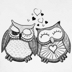 owls in love  gufi in amore  Felpe - Cappello con visiera