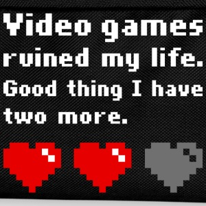 Video games ruined my life dark t-shirt - Kids' Backpack