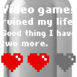 Video games ruined my life (dark) T-shirts - Drikkeflaske