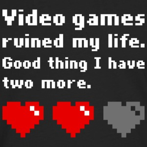 Video games ruined my life (dark) Magliette - Maglietta Premium a manica lunga da uomo
