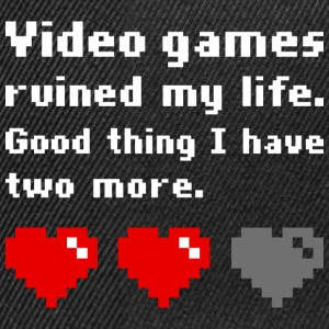 Video games ruined my life (dark) T-shirts - Snapback Cap