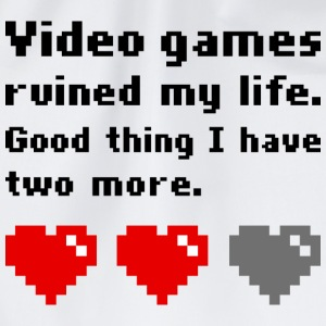 Video games ruined my life T-shirts - Gymnastikpåse