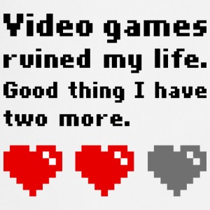 Video games ruined my life T-shirts - Forklæde