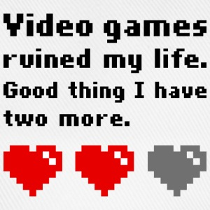 Video games ruined my life T-shirts - Basebollkeps