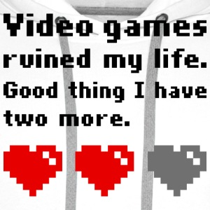 Video games ruined my life T-skjorter - Premium hettegenser for menn