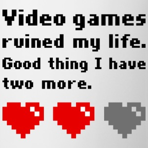 Video games ruined my life T-shirts - Kop/krus