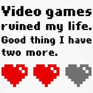 Video games ruined my life T-shirts - Mannen Premium shirt met lange mouwen