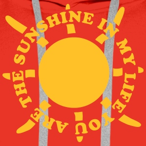 Sunshine in my life 2 Tee shirts - Sweat-shirt à capuche Premium pour hommes