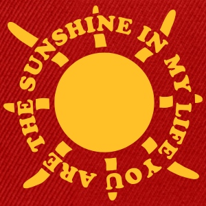 Sunshine in my life 2 Tee shirts - Casquette snapback