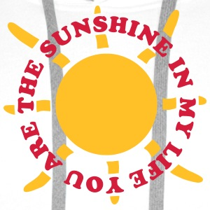 Sunshine in my life - V2 Tee shirts - Sweat-shirt à capuche Premium pour hommes