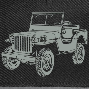 Jeep Willys Overland Offroad 4x4 T-Shirt T-Shirts - Snapback Cap