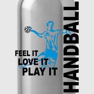 Handball - feel it, love it, play it Pullover & Hoodies - Trinkflasche