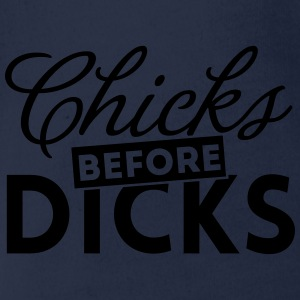 Chicks before dicks hen night girlfriend bff party Shirts - Organic Short-sleeved Baby Bodysuit