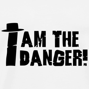 I am the danger with hat Flessen & bekers - Mannen Premium T-shirt