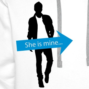 She is mine - partner shirt T-Shirts - Men's Premium Hoodie