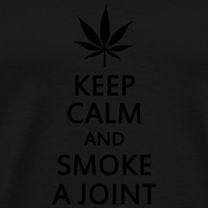 keep calm and smoke a joint Underwear - Men's Premium T-Shirt