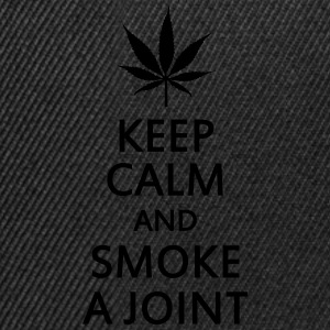 keep calm and smoke a joint Ropa interior - Gorra Snapback