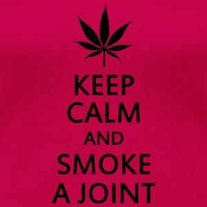 keep calm and smoke a joint Skjorter med lange armer - Premium T-skjorte for kvinner