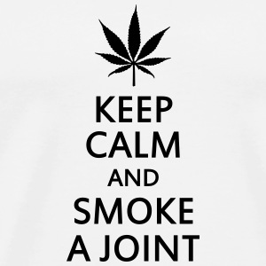 keep calm and smoke a joint Kopper & flasker - Premium T-skjorte for menn
